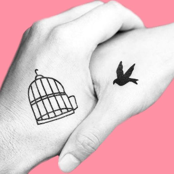 Bird + Cage Tattoo