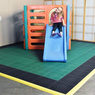 Greatmats staylock perforated tiles indoor playground
