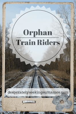 Orphan Train Riders - A journey over 250,000 children took between 1854 and 1929