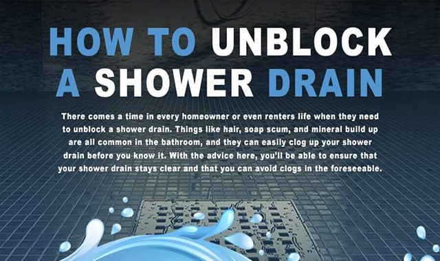 How to Unblock a Shower Drain #infographic