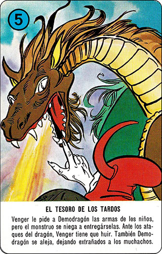 Baraja Dragones y mazmorras Heraclio Fournier Carta azul 5