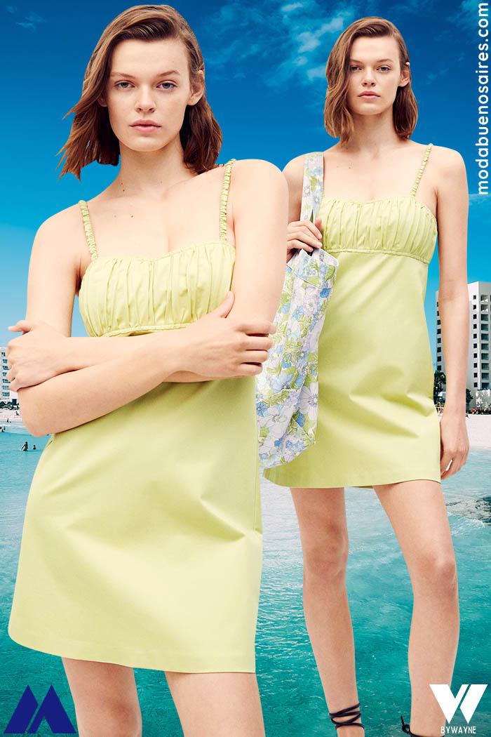 vestidos cortos casuales verano 2022