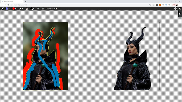 [ Enumcut ] Maleficent costume play model Photo - Remove Background From Image  (Example)