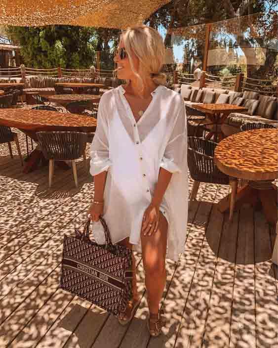 6 maneiras de usar a camisa branca na praia