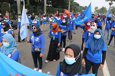 Kapolresta Tangerang Ingatkan Buruh Laksanakan Protokol Kesehatan
