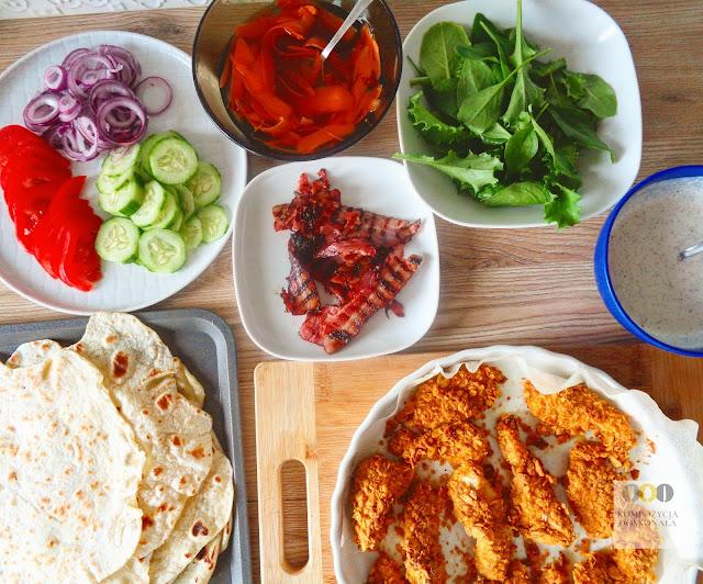 składniki na tortille