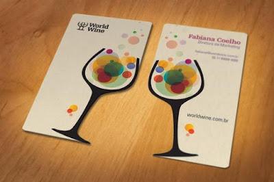 Tarjetas de presentación de vinos