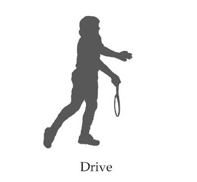 Drive serve badminton