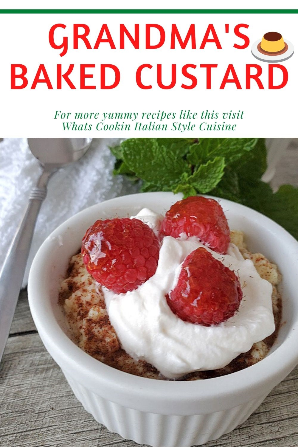 pin for later custard recipe