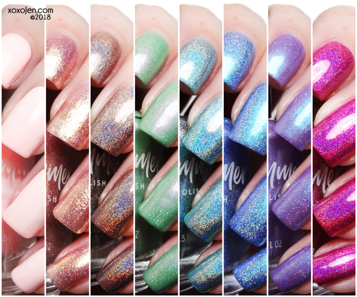 xoxoJen's swatches of KBShimmer Wanderlust Collection