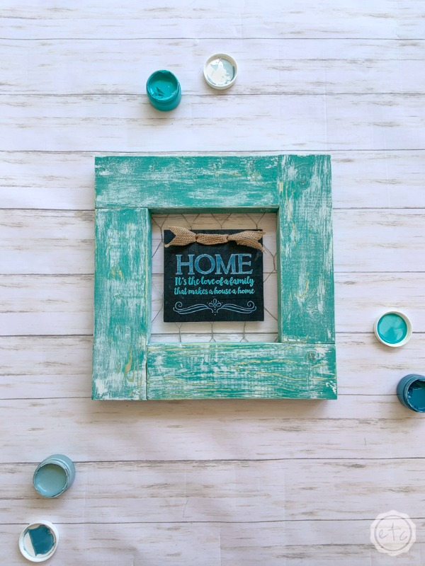 2x4 turquoise picture frame