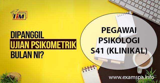 Contoh Soalan Online Ujian Psikometrik Pegawai Psikologi Gred S41