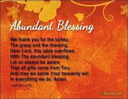 thanksgiving blessing prayer