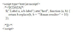 Thêm tự động max-results cho label blogspot