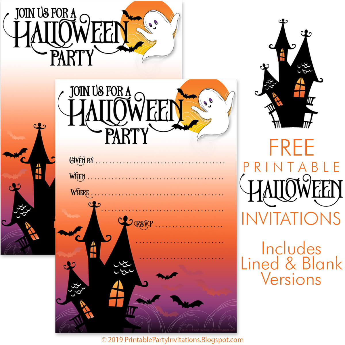 free printable party invitations blogger