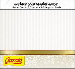 Etiquetas de Dorado y Gris para imprimir gratis.