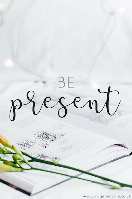 Here's some thoughts on being present and how we can all help ourselves spent more time in the moment. Click to read more...