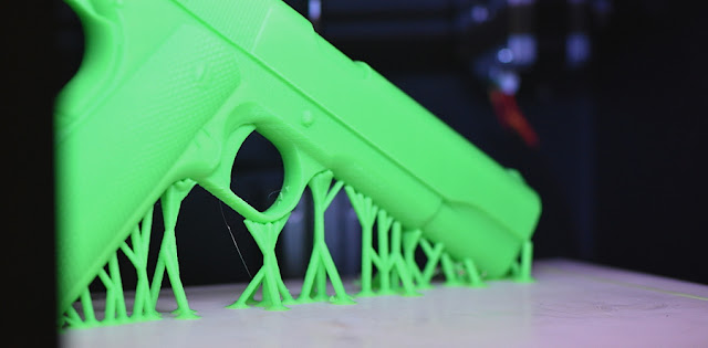 Image Attribute: A solid, non-working Colt 1911 static model by TaylarRoids is printed on a household printer; is this a digital blueprint? Richard Matthews, Author provided via Conversations