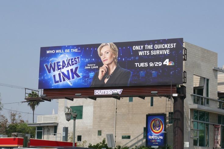 Weakest Link 2020 revival billboard