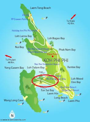 onde se hospedar em Phi Phi