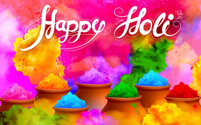 Happy Holi for facebook status