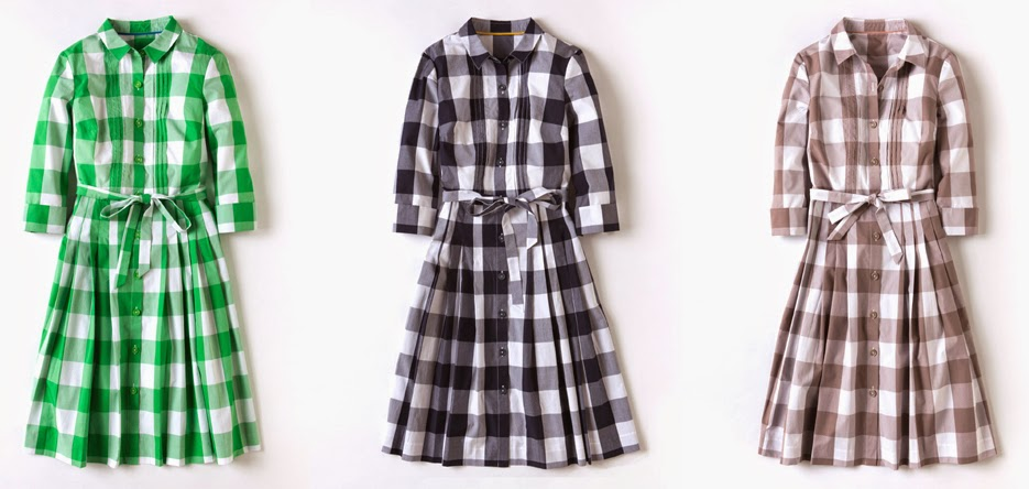Boden gingham shirt dress