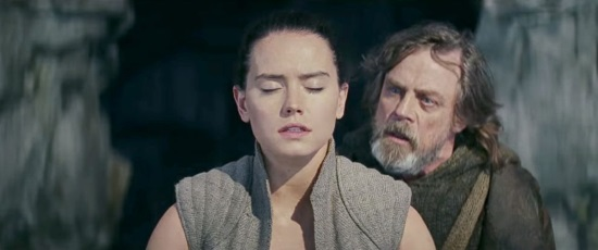 Rey (Daisy Ridley) Luke Skywalker (Mark Hamill)