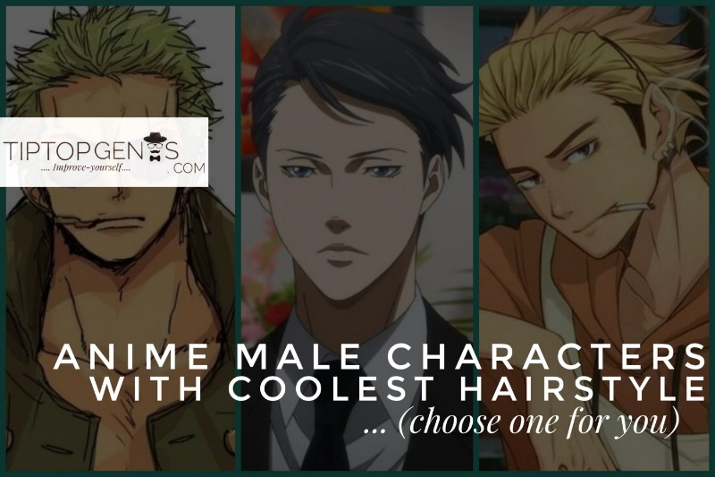 30+ anime male hairstyles hq images.