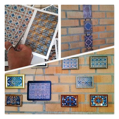 fotos e quadros de azulejos