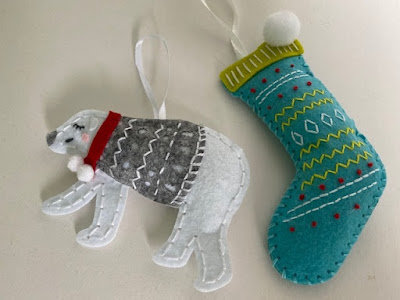 Felt Christmas kits from Trimits - polar bear and stocking