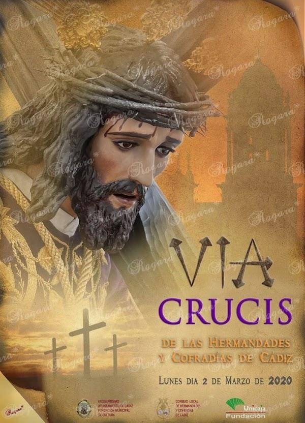 El vía-crucis oficial de hermandades 2020 ya tiene cartel en Cádiz