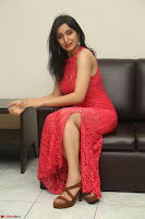 Sakshi Kakkar in Red Legsplit Sleeveless Gown at Dare movie Press meet ~  Exclusive 056.JPG