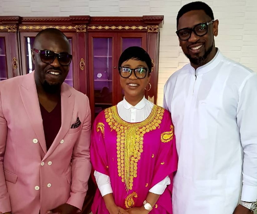 jim iyke tonto dikeh attend coza church