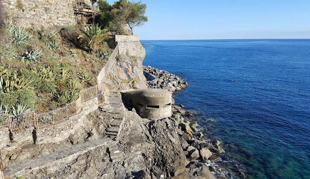 Antigo bunker alemão na Via Bastoni, Monterosso, Cinque Terre