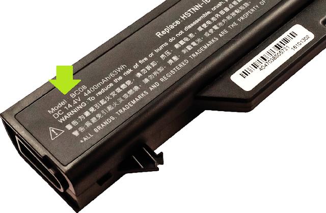 cara melihat spesifikasi baterai laptop