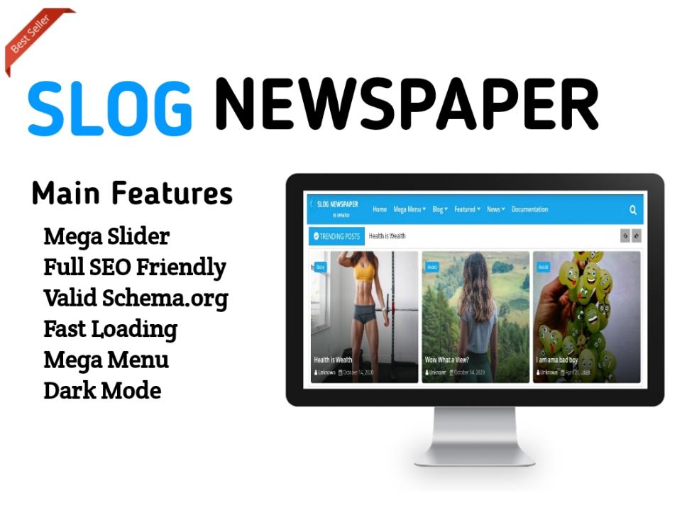 Newspaper 10 Blogger Template - Responsive Blogger Template