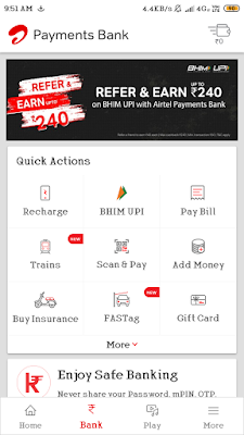 Airtel refer and earn