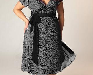 model baju untuk orang gemuk biar kelihatan langsing