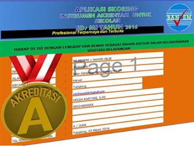 Aplikasi Penskoran/Penilaian Akreditasi Sekolah SD,SMP,SMA, dan SMK