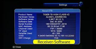 Tiger T8 High Class V2 Software Download 2021 Version 3.95