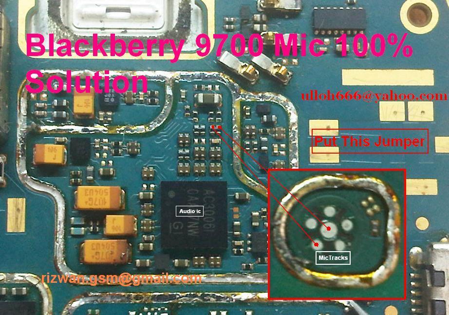 Blackberry 9700 Onyx Mic Solution - Ulloh Mobile