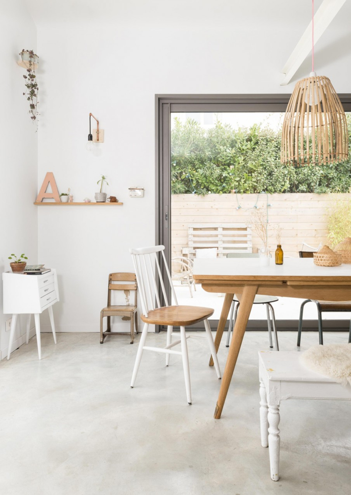 A Far From Boring White Bungalow in France-design addict mom