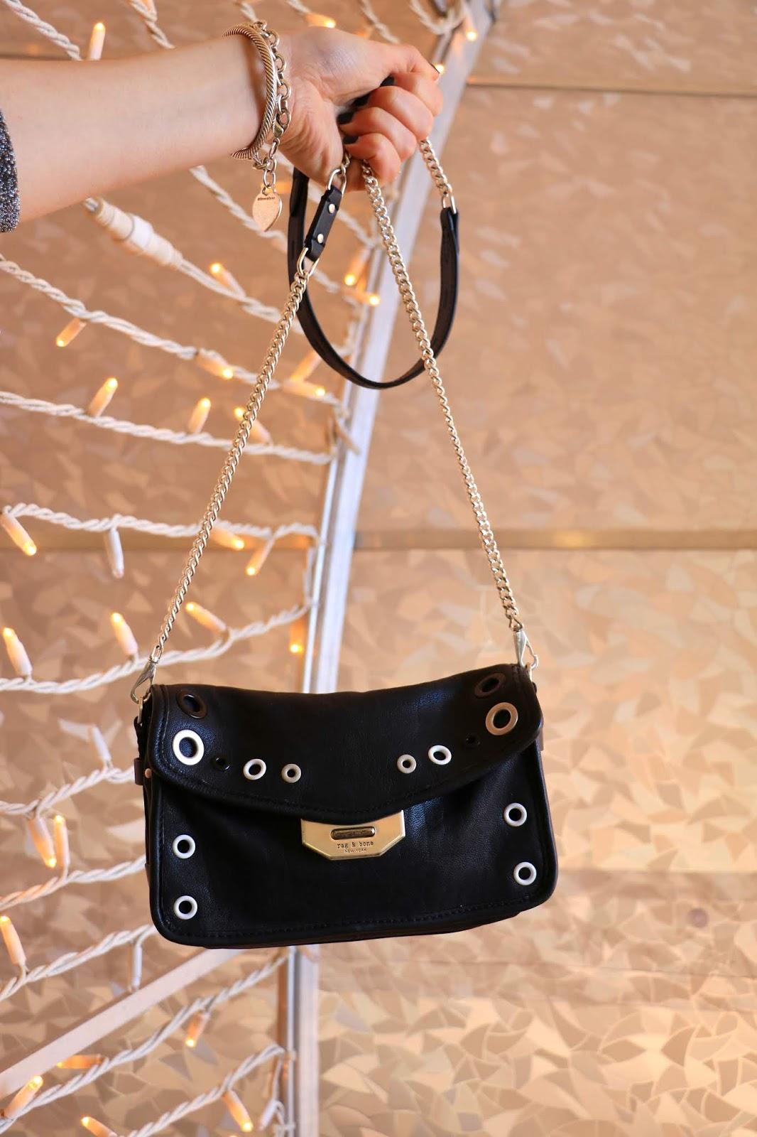 Nyc fashion blogger Kathleen Harper's Rag & Bone leather purse.