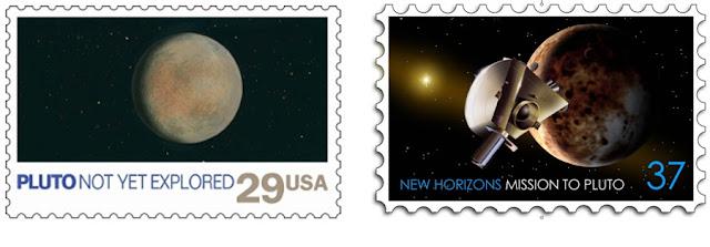 selo postal - edição especial Plutão