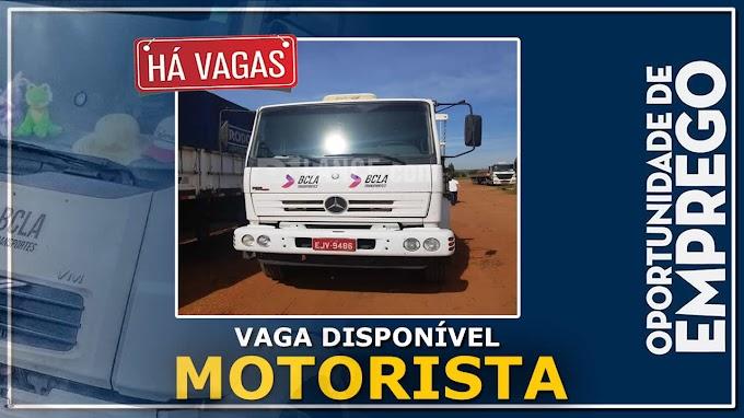 BCLA Transportes abre vagas para Motorista Categoria D e E