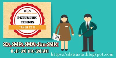 PETUNJUK TEKNIS BOS TAHUN 2019 TERBARU SD, SMP, SMA DAN SMK