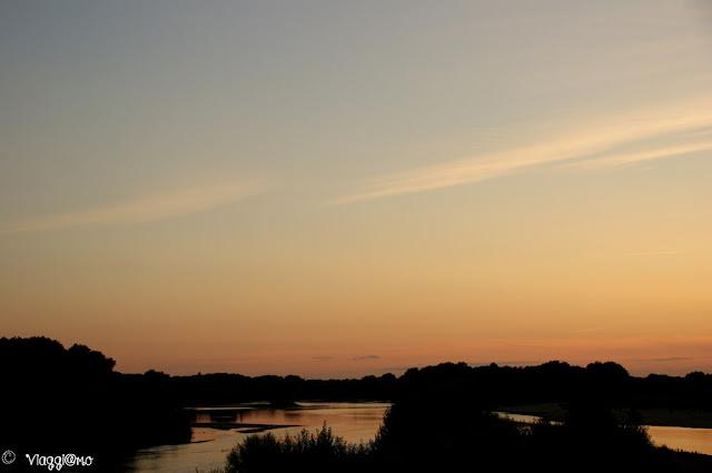 Panorama sulla Loira al tramonto