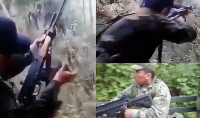 "VIDEO.- ""Ora Huachos atorenle"" Filtran grabación de Emboscada con AK-47 de Sicarios a Militares en la Sierra de Guerrero donde mataron a 3 soldados"