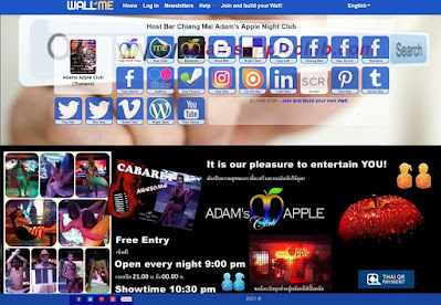 WALLME Adams Apple Club Gay Bar Chiang Mai