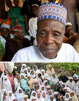 image result for nigerian man who married 97 wives